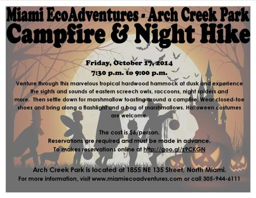 Halloween Campfire & Night Hike - 2014