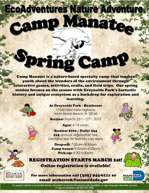 Spring Camp 2015 flyer