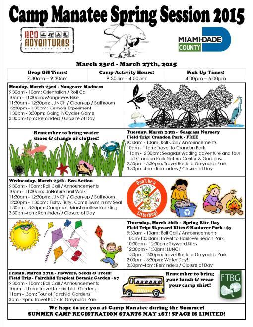 Spring camp schedule 2015